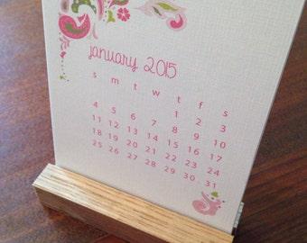 2018 Desk Calendar, Floral, Paisley, Floral Calendar, Calendar Gift