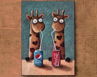 giraffes, Ivan Glock 70x50