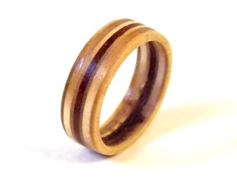 Wooden Ring with Birch and Paduak