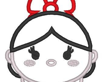 Snow White Princess Machine Applique Design