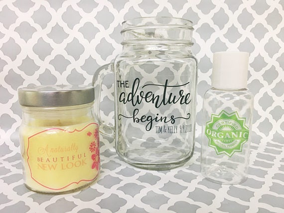 Clear Custom Stickers Clear Transparent Round Vinyl - Vinyl stickers for glass jars