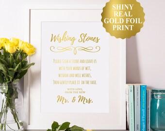 Wedding Stones Sign, Wedding Wishing Stones Sign, Wedding Wishing Stones Guestbook, Stones Guest Book, Wishing Rocks, Guestbook Stones