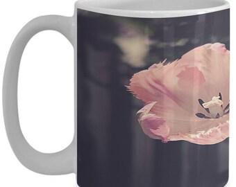 Tulip garden flower mug - ceramic coffee and tea cup