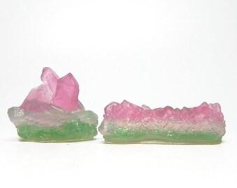 Watermelon Tourmaline Crystal Soap Set - Choose your Scent