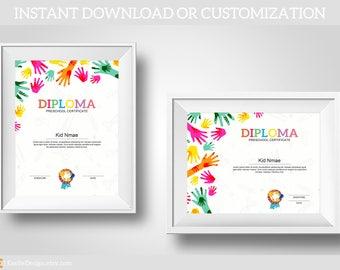 hand diploma,Preschool diploma