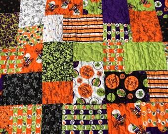 Halloween Quilt 48x72 Inches- Novelty Halloween Lap Quilt - Children's Bed Quilt - Halloween Lap Quilt - Quiltsy Handmade