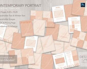 Contemporary Portrait - Magazine Template - ID CS4 & Up and PSD CS6 - CC