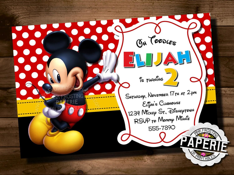 diy mickey mouse clubhouse invitations Josemulinohouseco