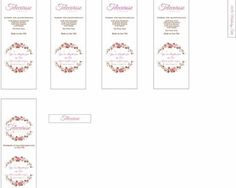 Satin Sew-in Labels - Custom Printed Cut and Heat Sealed - Teleca