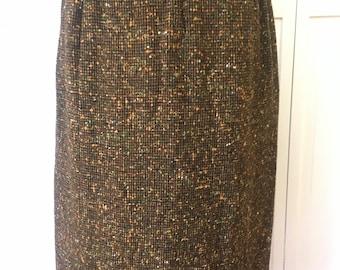 Free shipping Vintage 60s mid century PENDLETON  skirt  large