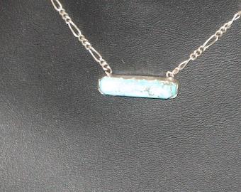 Turquoise Minimalist Bar Necklace