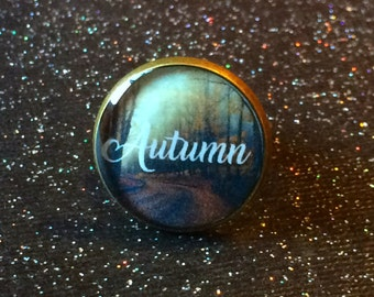 Autumn Ring / Bronze Fall Harvest Jewelry / Fall Scenery Ring / Autumn Leaves / Gorgeous Fall Colors Fall Foliage Autumn Lover Gift