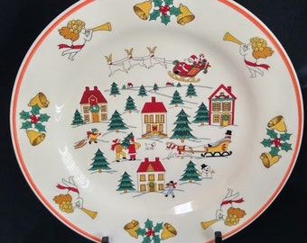 Jamestown China - The Joy of Christmas Plate 10""