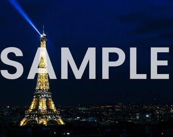 Eiffel Tower Lights Photo Download