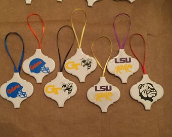 College Football Tile Ornaments