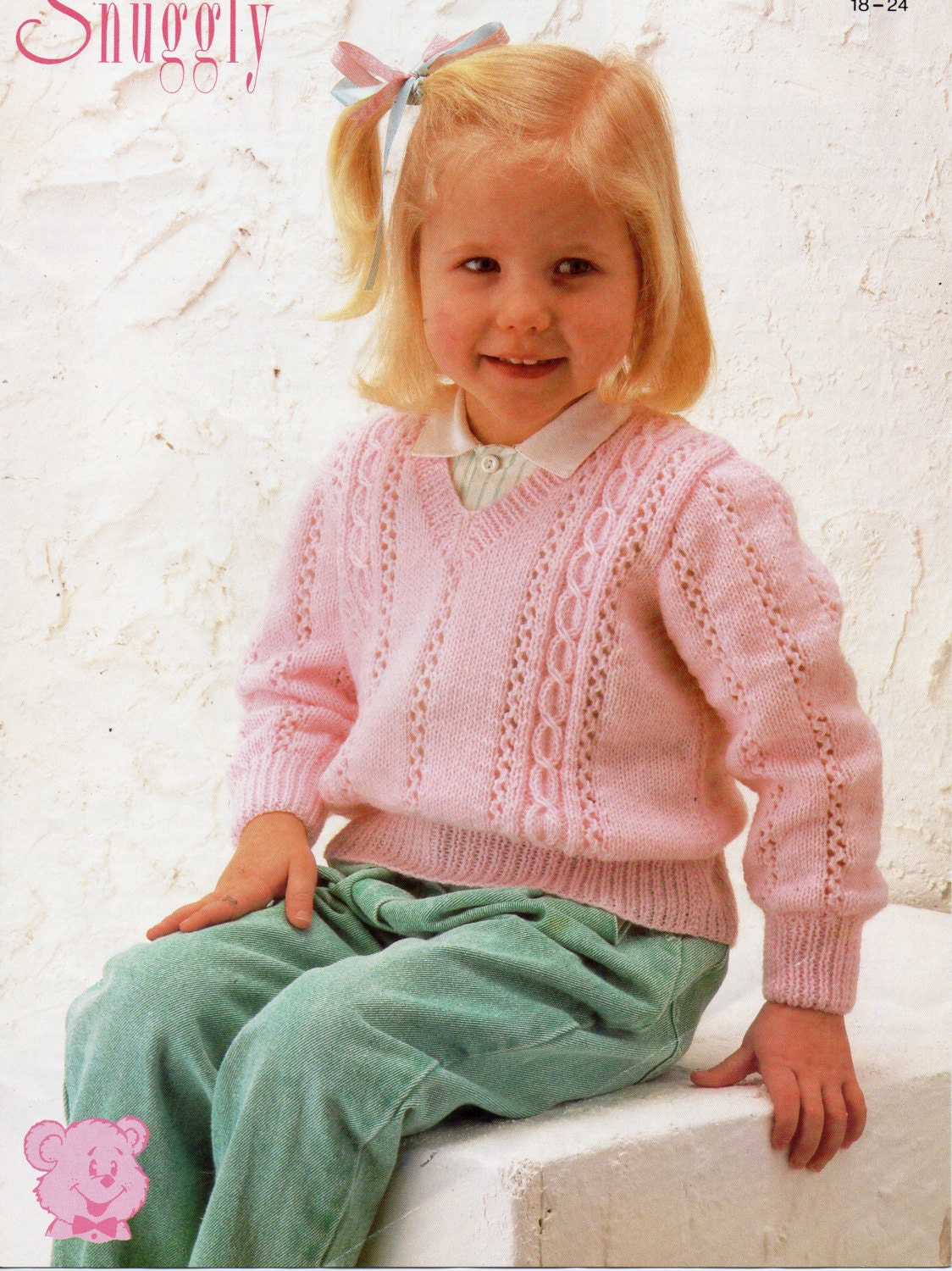 baby v neck cable sweater knitting pattern pdf download