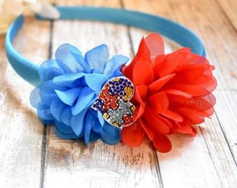 Autism Awareness Inspired Headband, Puzzle Piece Headband, Autism Awareness, Blue Puzzle Piece Headband, Support Autism