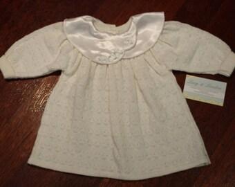 Girls Knitted White Dress