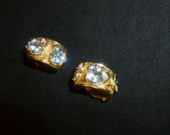 Yves Saint Laurent Haute Couture signed earrings