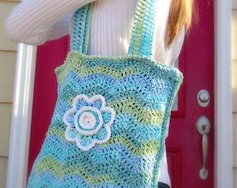 crochet pattern - Chevron Stripes Shoulder bag crochet pdf file chevron crochet bag crochet purse crochet shoulder bag pattern