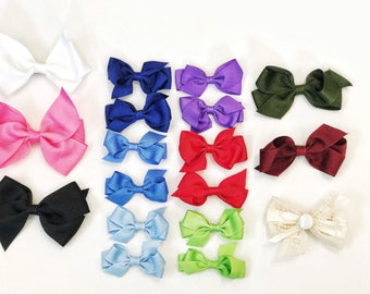 Set of Infant Bows. Set of Toddler Bows. Girls Hair Bow. Boutique Bows. Gifts for daughter. Baby Hair Bows. Set of Bows. Gifts for Girls.