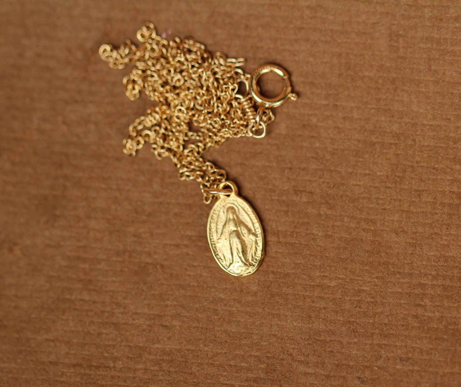 Virgin mary necklace religious necklace catholic necklace a