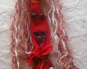 Fire Elemental OOAK Art Spirit Doll