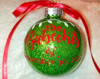 First Married Christmas Ornament, Family Keepsake Ornament