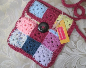 Small Granny Square Patchwork Bag