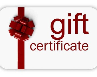 Gift Card 30/50/70/100 USD, Gift Certificate, Last Minute Birthday Gift, Buy prepaid gift card Anonymous Gift Secret Admirer Fundraiser Item