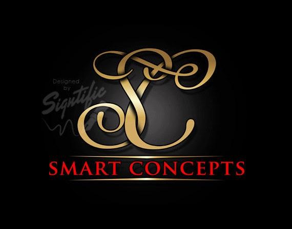 Monogram Initials Logo Elegant Gold Custom