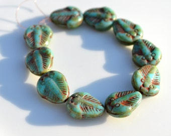 Turquoise Picasso Trilobite Beads 10