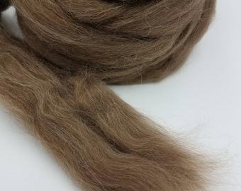 1 pound Brown Finnish combed top, Finn, Finnsheep, roving, spinning fiber, felting fiber, fiber