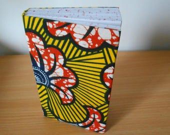 Gift idea. Small notebook made of wax (Ankara)