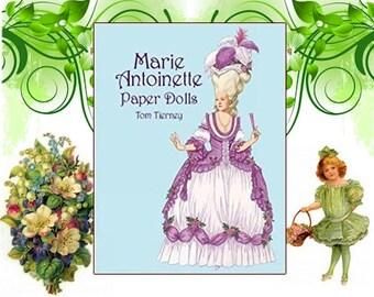 Vintage Victorian Paper Dolls - Paper Dolls - Victorian Paper Dolls - Marie Antoinette Paper Dolls - Tom Tierney