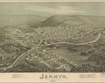 Poster, Many Sizes Available; Map Of Jermyn, Pennsylvania 1889