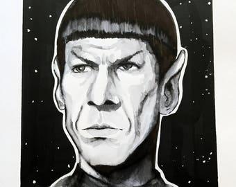 Spock: Live long  (ORIGINAL) 9X12