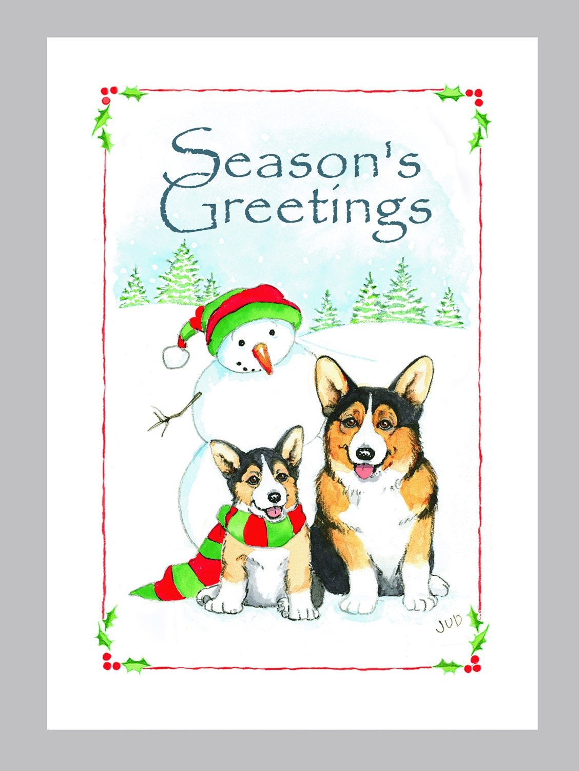 Pembroke welsh corgi christmas cards box of 16 cards and pembroke welsh corgi christmas cards box of 16 cards and envelopes kristyandbryce Image collections