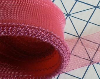 4 yards old rose horsehair - 2 inch horsehair - pink crinoline