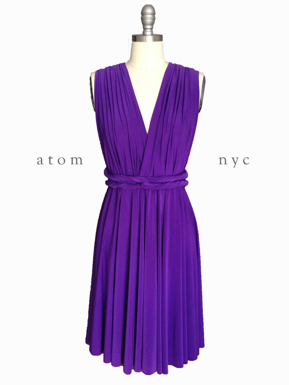 Royal Purple SHORT Infinity Dress Convertible Formal Multiway