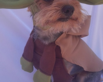 Yoda dog costume yoda dog cosplay jedi dog costume yoda costume for dogs yoda pet costume disfraz de yoda para perros disfraz de jedi & Yoda dog costume | Etsy