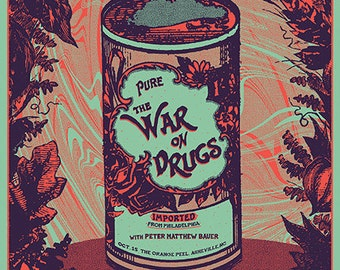 The War On Drugs - Official Screen printed Poster - Asheville, NC