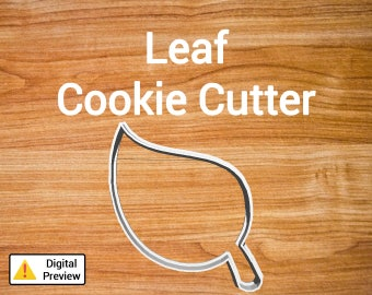 "4"" Leaf Cookie Cutter (Object Set)"