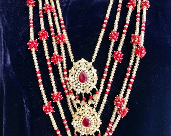 Ruby and Champagne Necklace