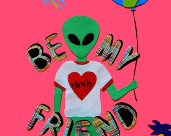 Be My Friend 5x7 Print