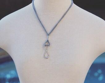 wishbone infinity minimal metal pendant
