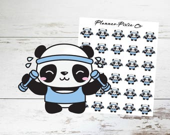Panda Planner Stickers // Workout // Weight Lifting