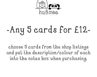 Any 5 cards - multibuy offer