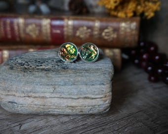 "Earrings ""Magical Green"""