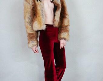 Hells Bells - Merlot colored velvet bell bottoms wide leg pants - burgundy wine boho rock